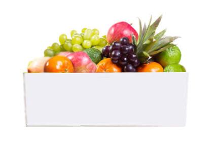 Cesta de fruta ecológica