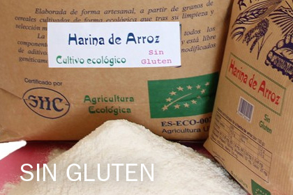 Harina integral Arroz ecológico SIN gluten