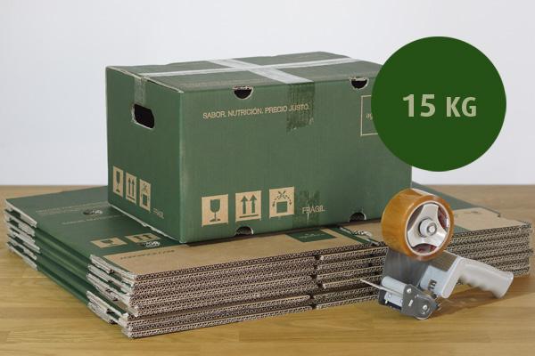 Pack 40 cajas cartón para 15 Kg