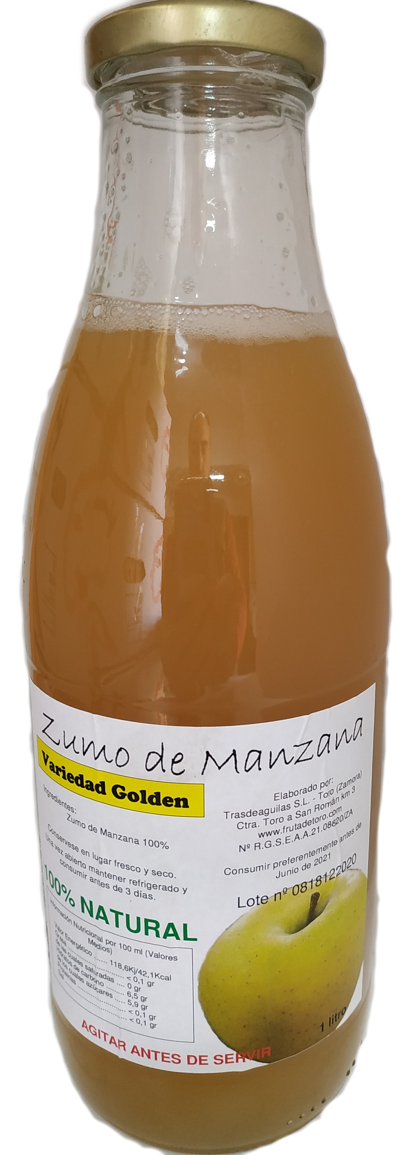 Zumo Natural de Manzana Golden