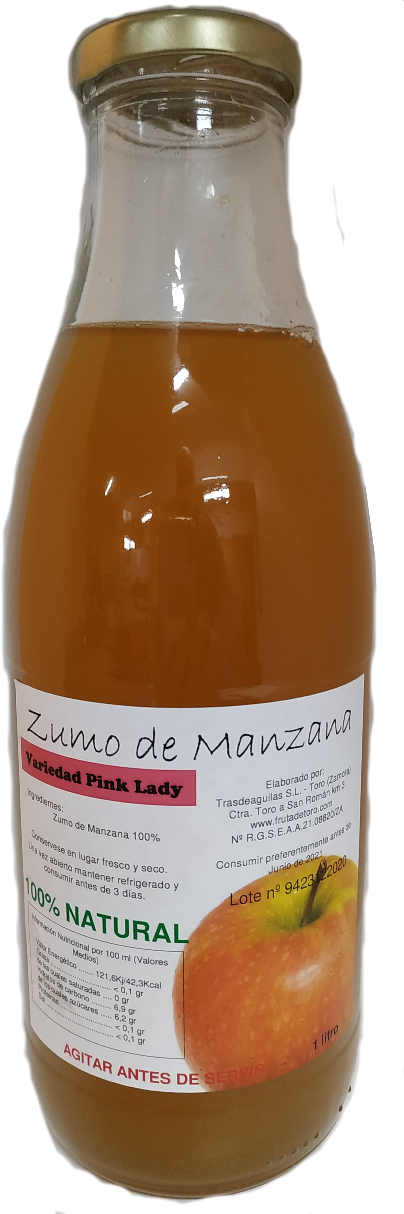 Zumo Natural de Manzana Pink Lady