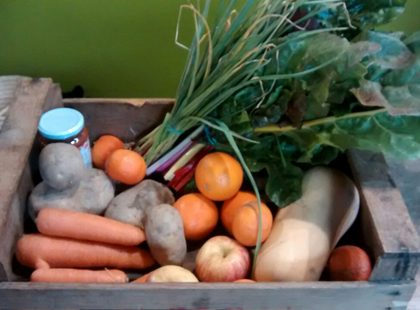 Cistella gran de verdura i fruita