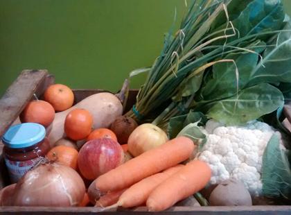 Cistella familiar de verdura i fruita