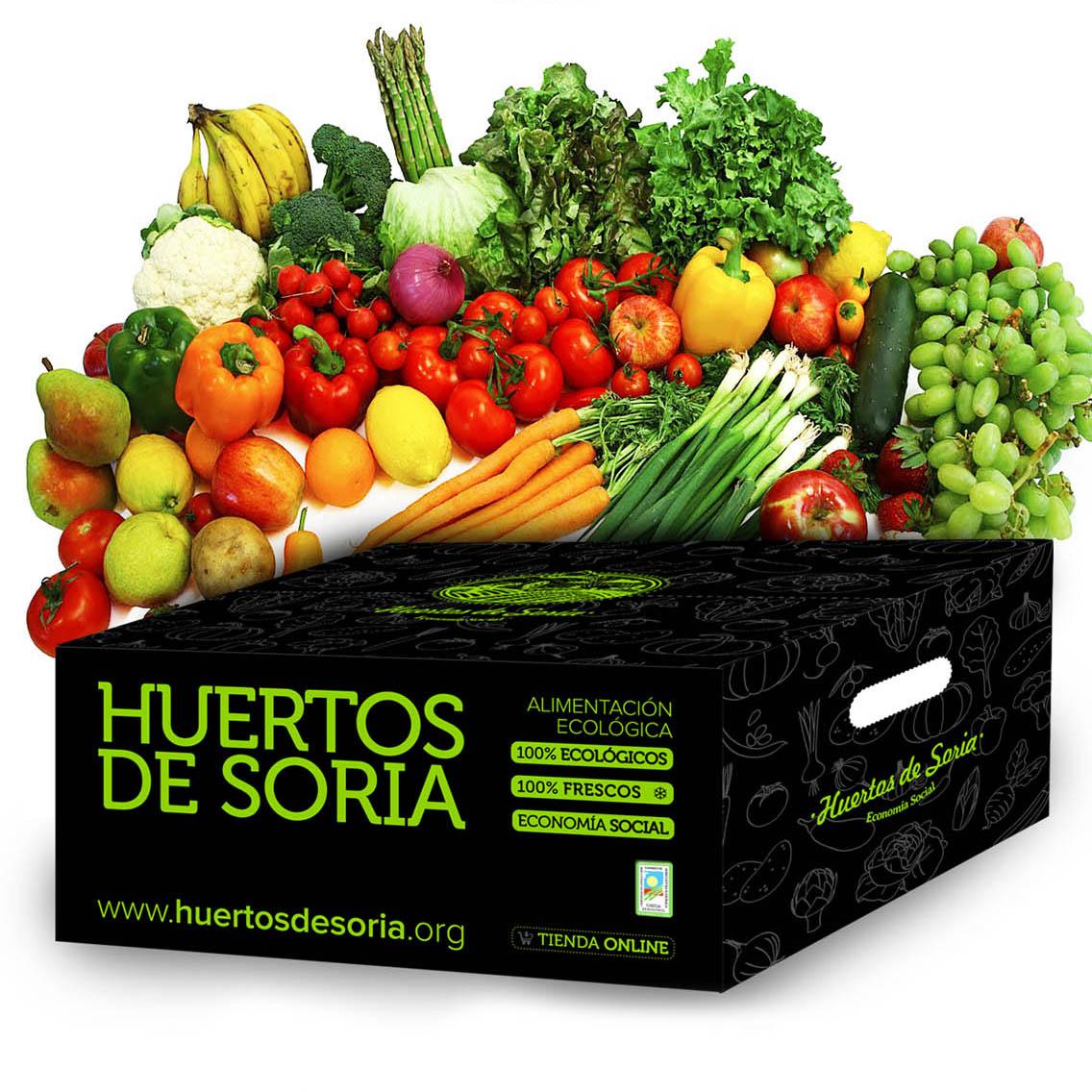 Cesta de 5 kgs de Fruta y Verdura Ecológica