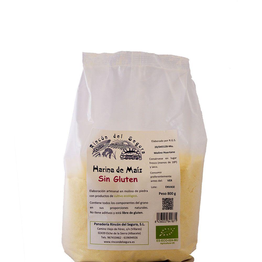 Harina Integral Maíz SIN GLUTEN Bio 25 kg