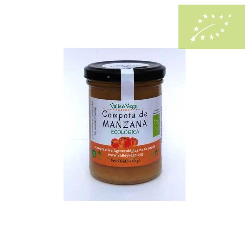 Compota SIN AZUCAR de manzana Ecologica Valle y Vega