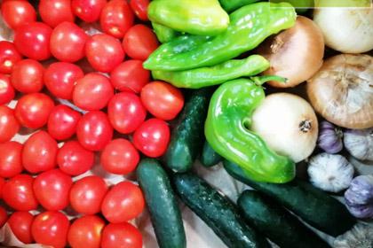 Vegetables for fresh organic Gazpacho