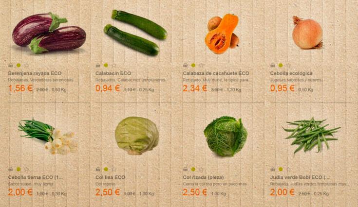 Precios de frutas y verduras ecologicas online