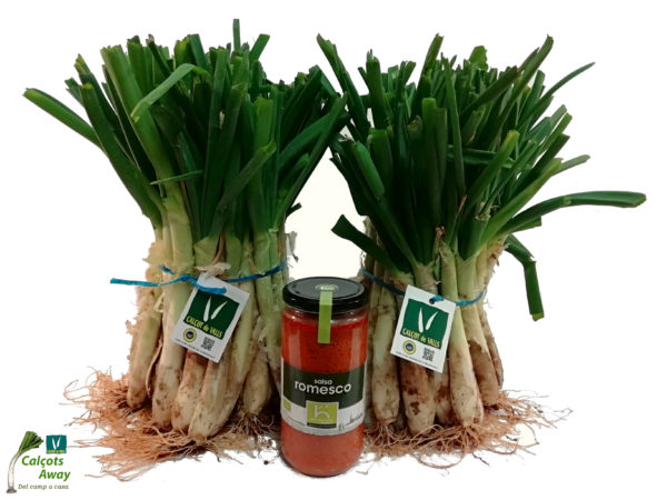 Pack 100 calçots with organic sauce