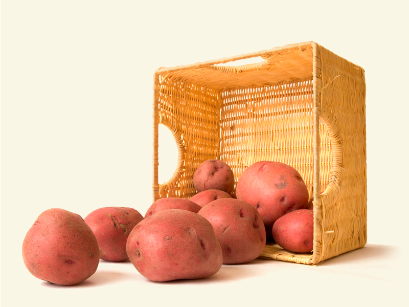OWN POTATOES OF HARVEST