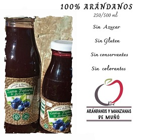 Zumo de Arándanos. 500ml 100% Natural.