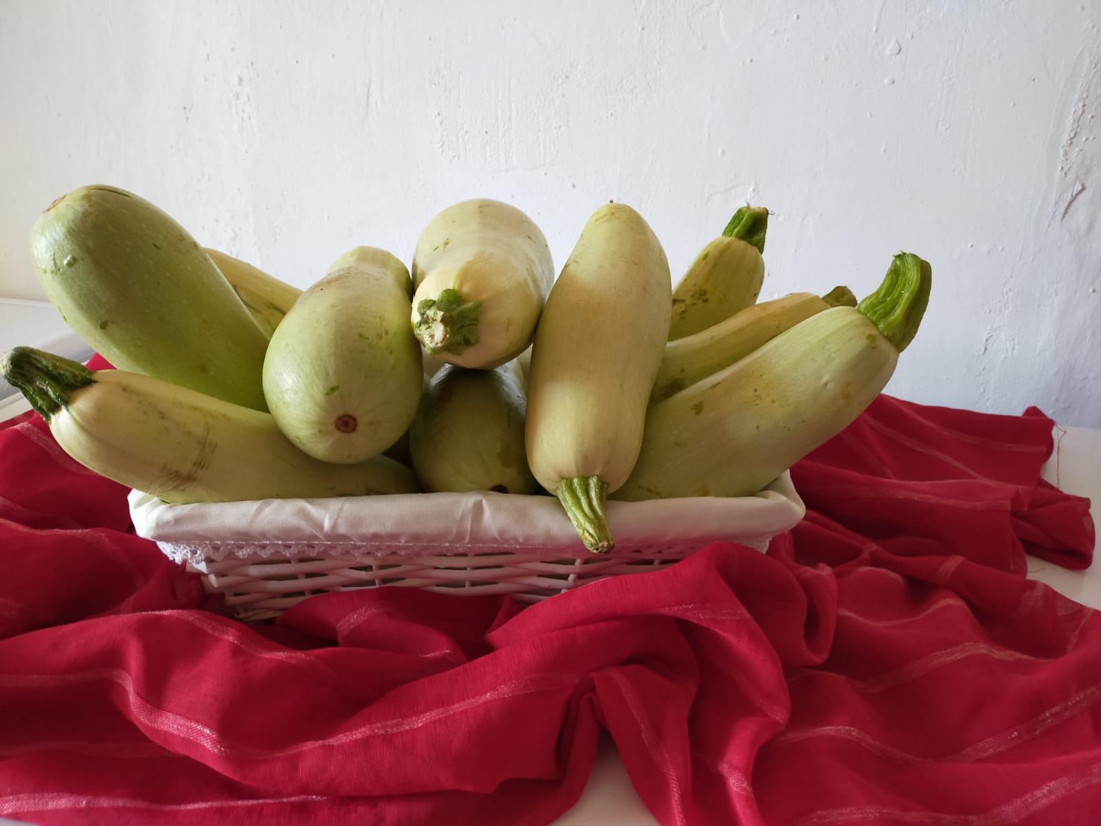 Calabacines blanco
