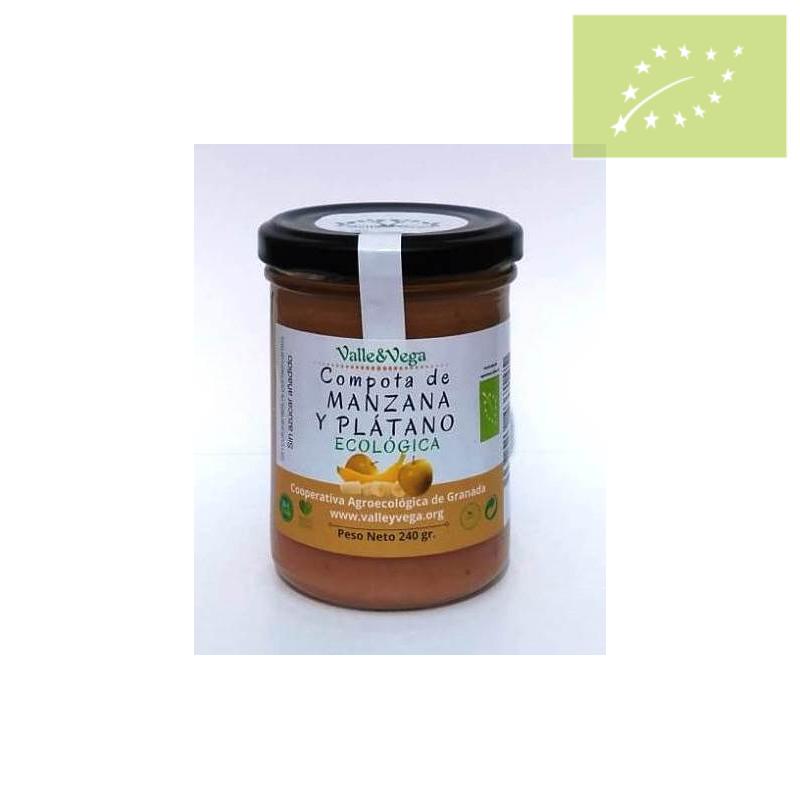 Compota de manzana y platano Ecológica
