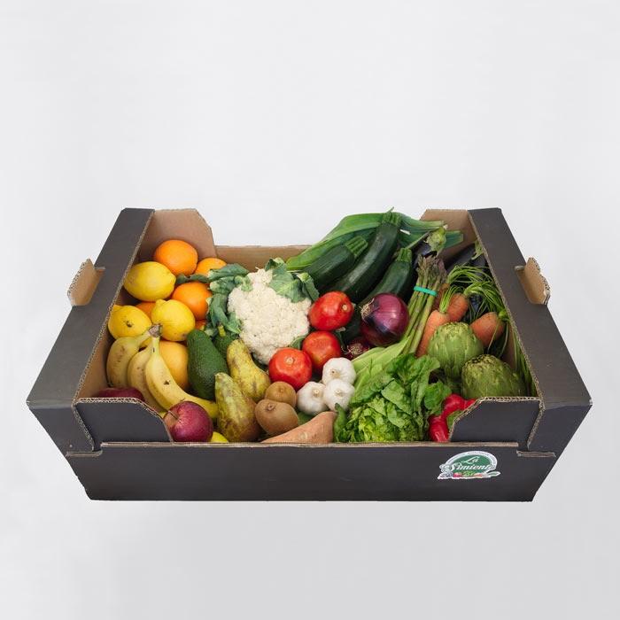 Cesta de fruta y verdura ecológica grande 14kg