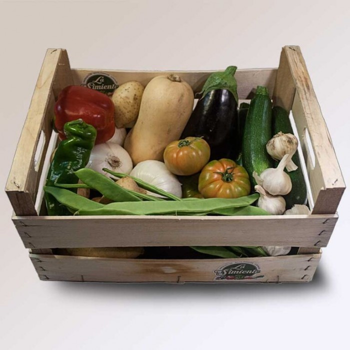 Cesta de verdura ecológica grande 14 kg