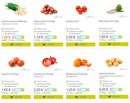 Creating an online store of fruits and vegetables is free in agroboca.com